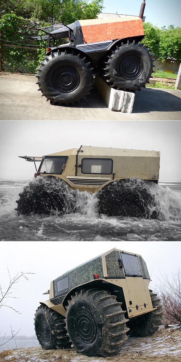 Sherp VTT Obtient Amphibie de Mise à niveau, est un Mini Monster Truck Qui Va n'importe où