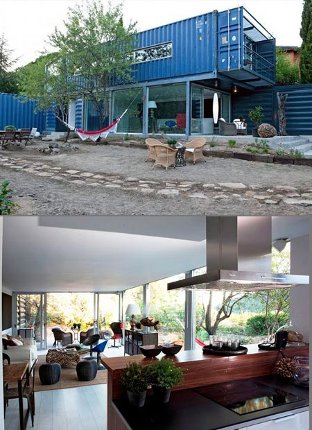 Stylish two story shipping container house is perfect for earth day techeblog - Two story shipping container homes ...