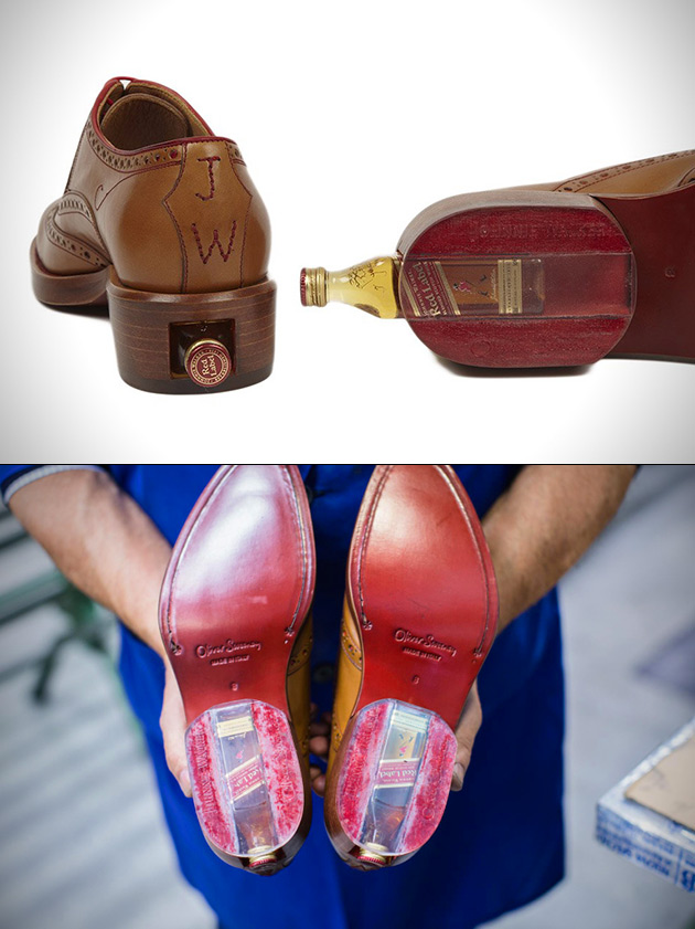 Shoe with Booze