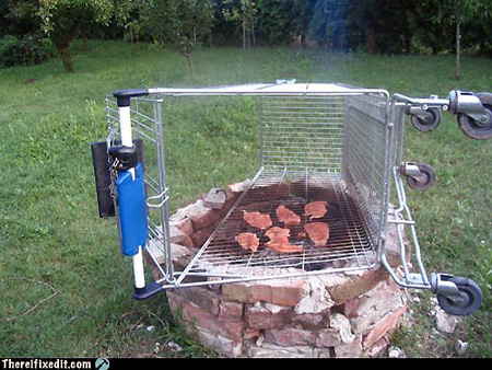 Image result for shopping cart grill