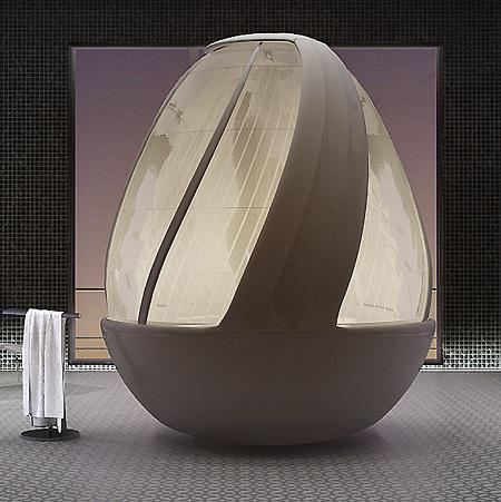 Amazing Egg Shaped Shower Pod Techeblog