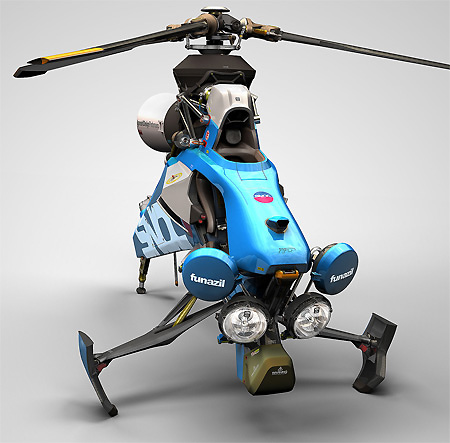 Single Helicopter