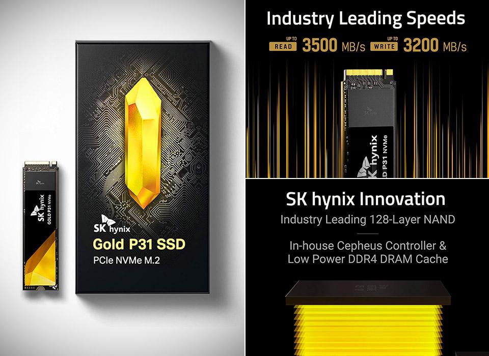 SK Hynix Gold P31 2TB NVMe M.2 SSD
