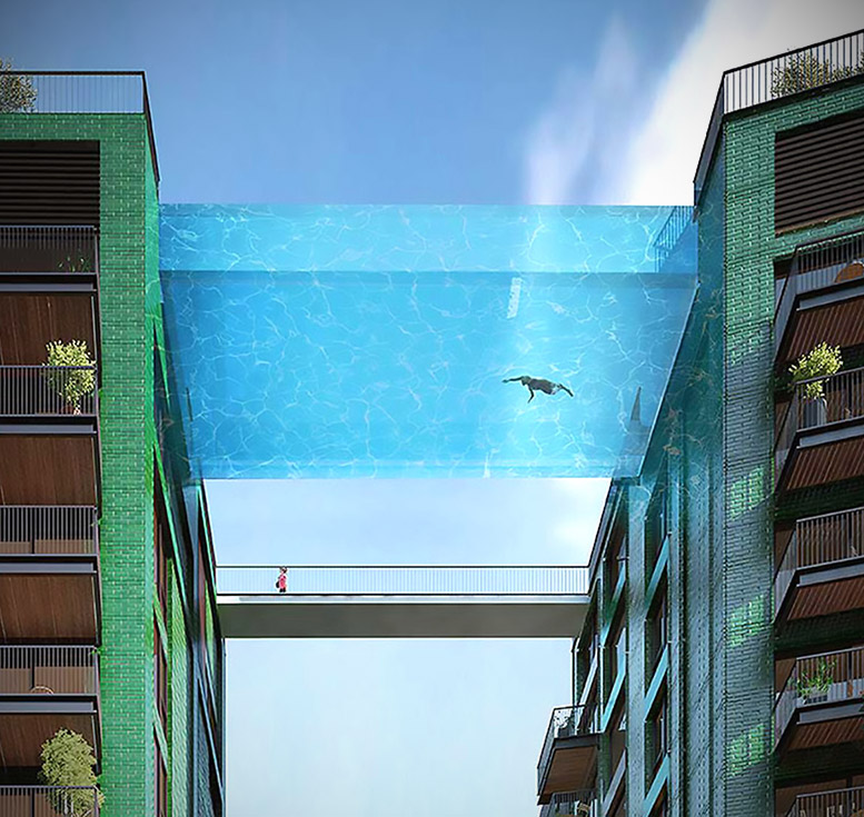 Insane Sky Pool Is Suspended 115 Feet In The Air Claimed
