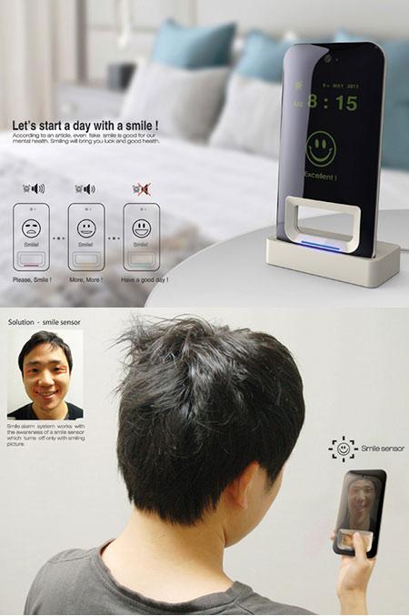 Smile alarm Clock