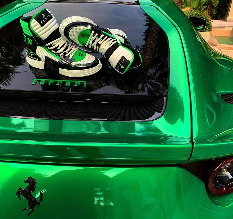 Sneakers on Ferrari Instagram