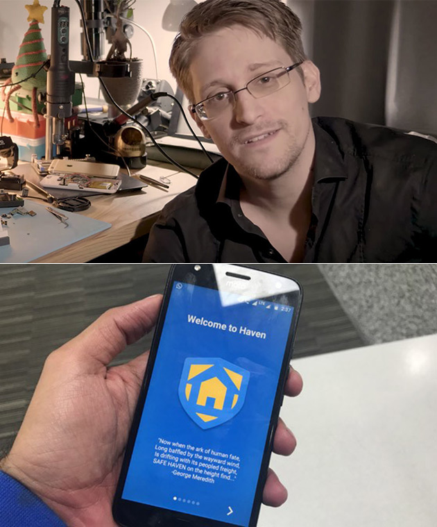 Edward Snowden's Haven App Transforms Your Android Smartphone Into a