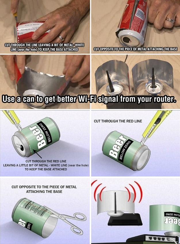 Soda Can Wi-Fi Signal