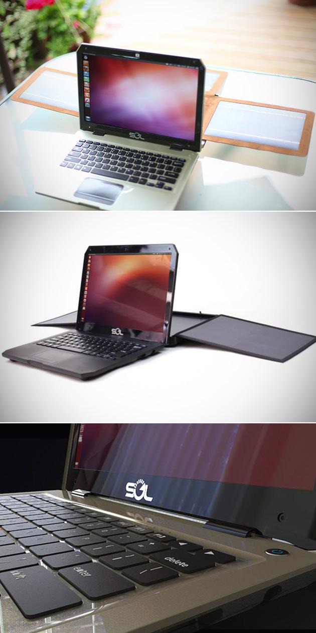 Sol Solar-Powered Laptop