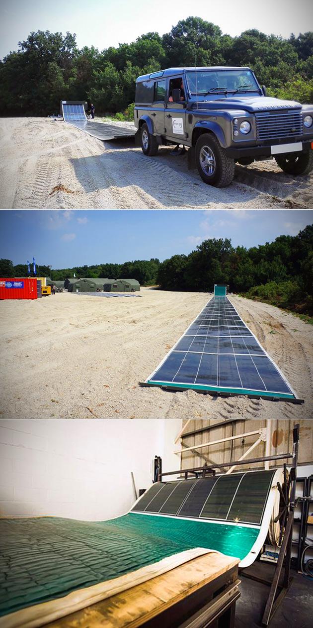 Solar Carpet Roll Array