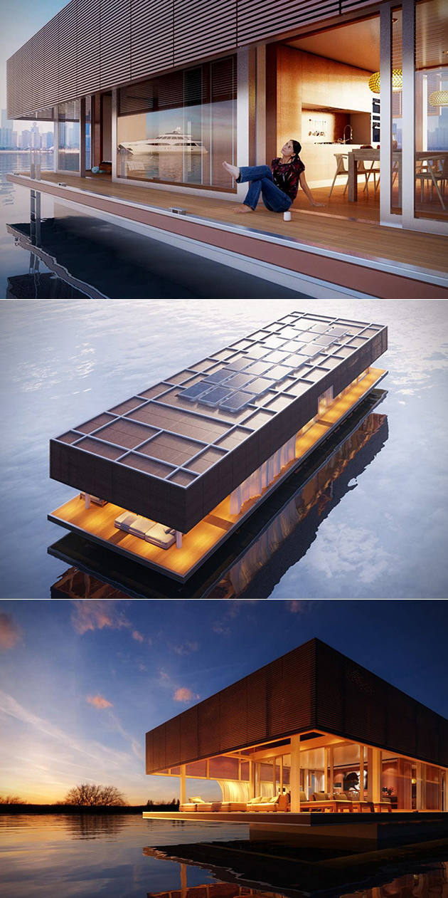 Solar-Powered Floating Home