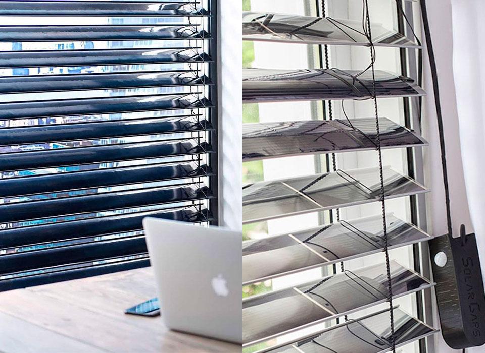 SolarGaps Solar Blinds Window