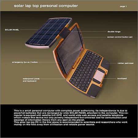 Solar Power Laptop