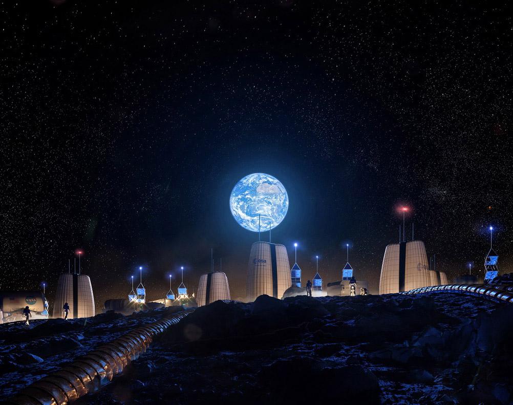 SOM Permanent Moon Village Habitat