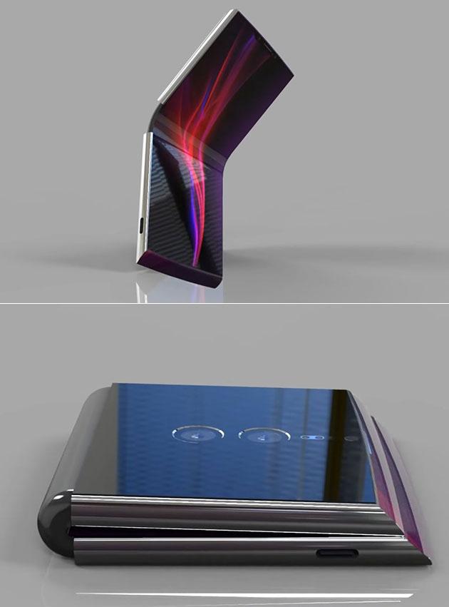 Sony Xperia Flex é um Smartphone Dobrável Que se Parece com uma Mini PS4 Quando Dobrado