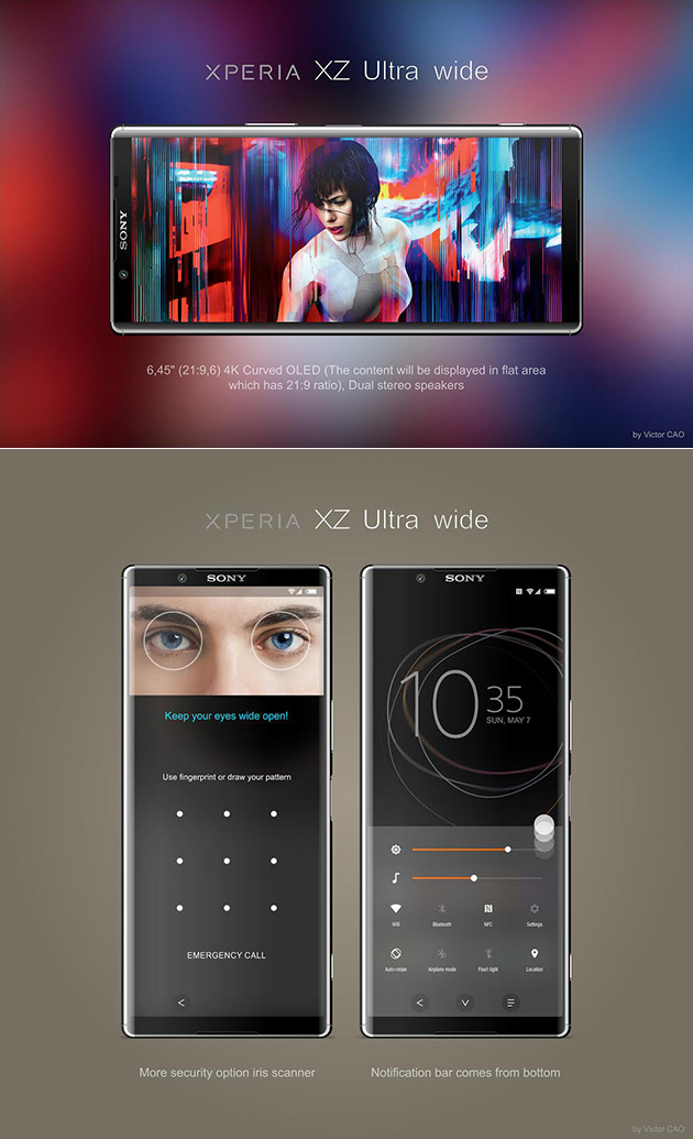 sony xperia xz ultra wide smartphone has curved oled 4k display techeblog. Black Bedroom Furniture Sets. Home Design Ideas