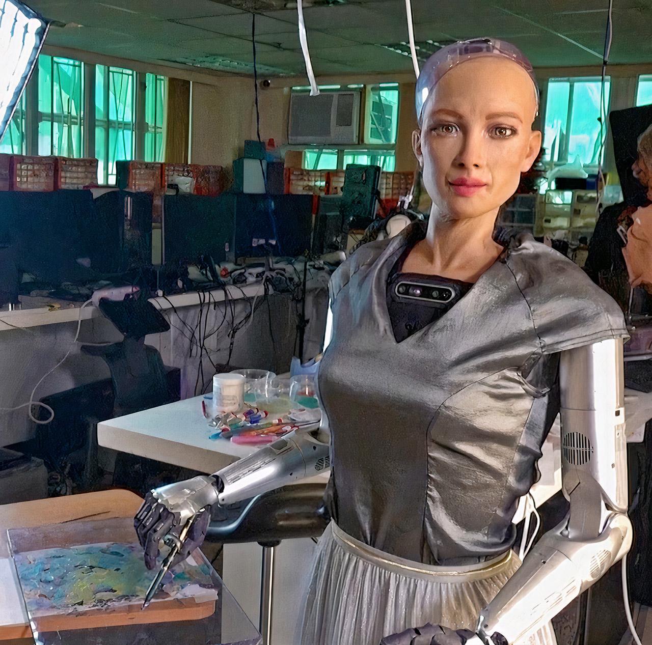 Sophia AI Robot NFT Artwork