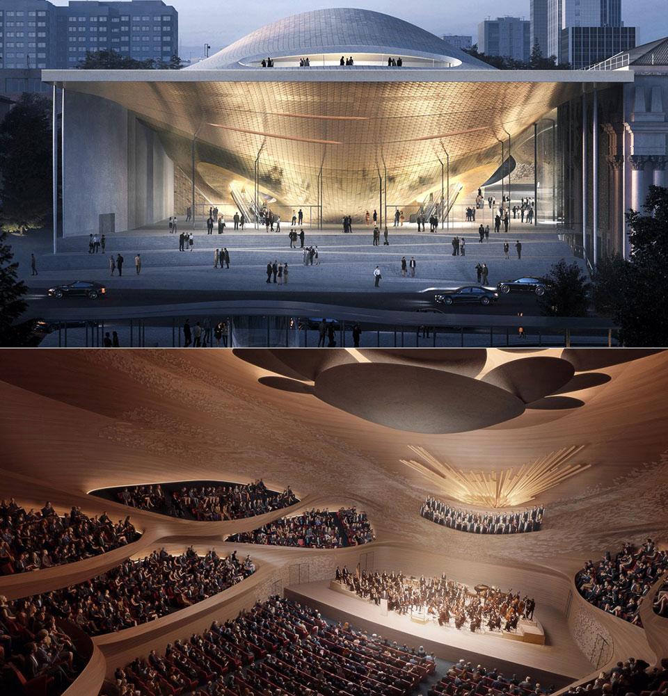 Sound Wave Building Ural Philharmonic Orchestra