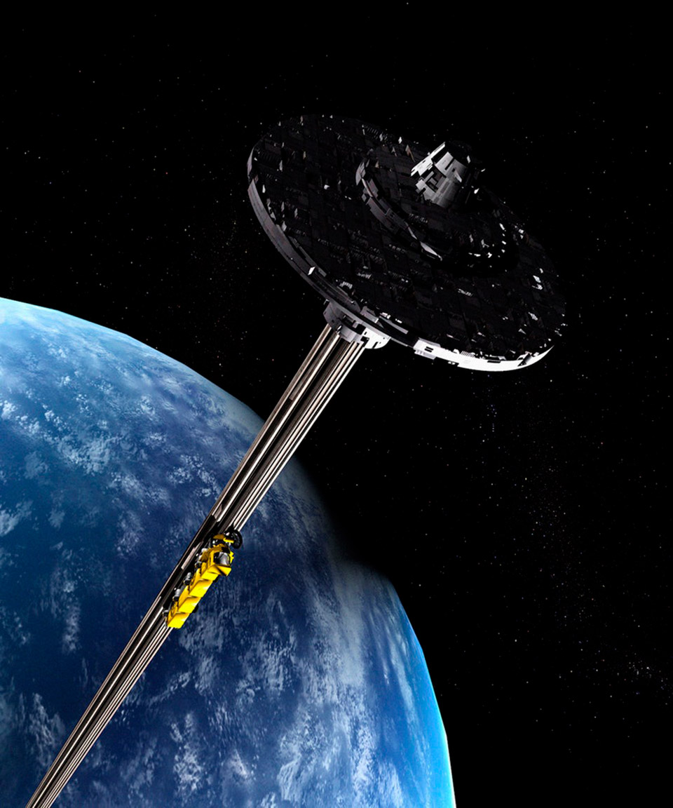 Space Elevator Earth Orbit Moon