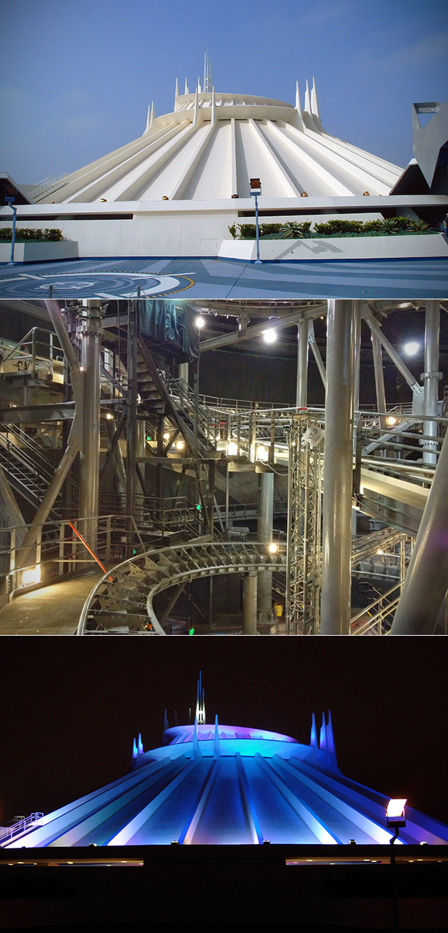 Space Mountain Lights On