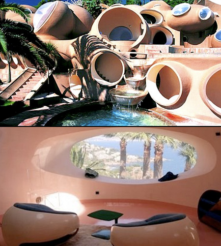 "this futuristic space ship-inspired home ""is often rented out for film"