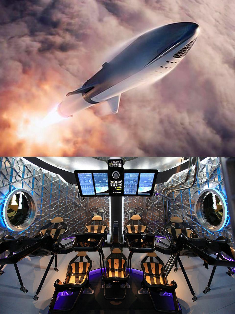 SpaceX BFR Travel Elon Musk