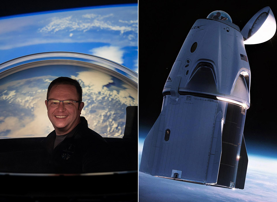 SpaceX Dragon Glass Dome Inspiration 4 Mission