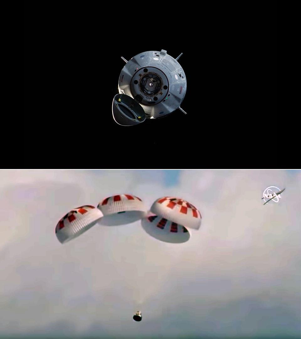 SpaceX Dragon V2 Splash Down