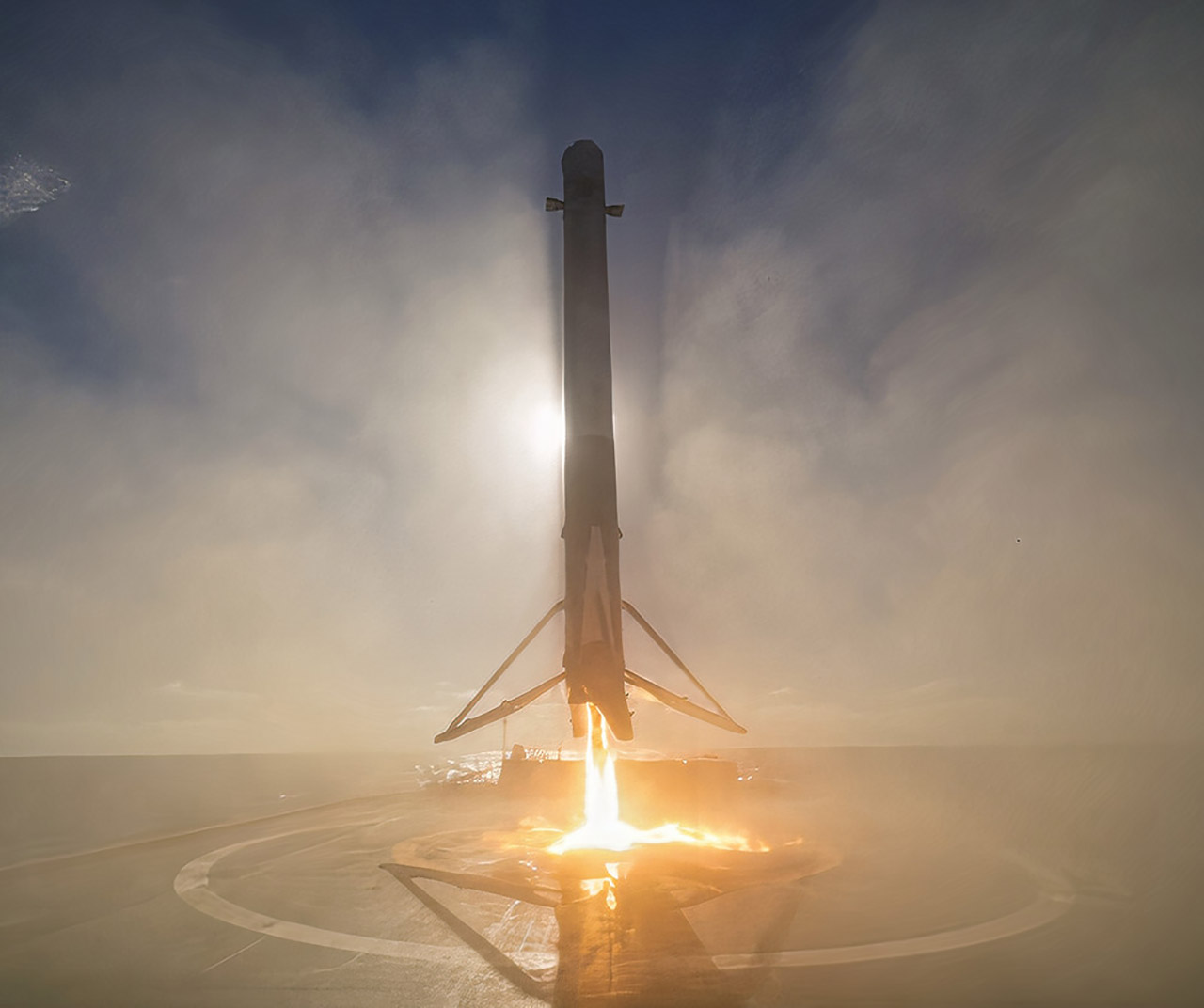 SpaceX Falcon 9 Drone Ship Landing