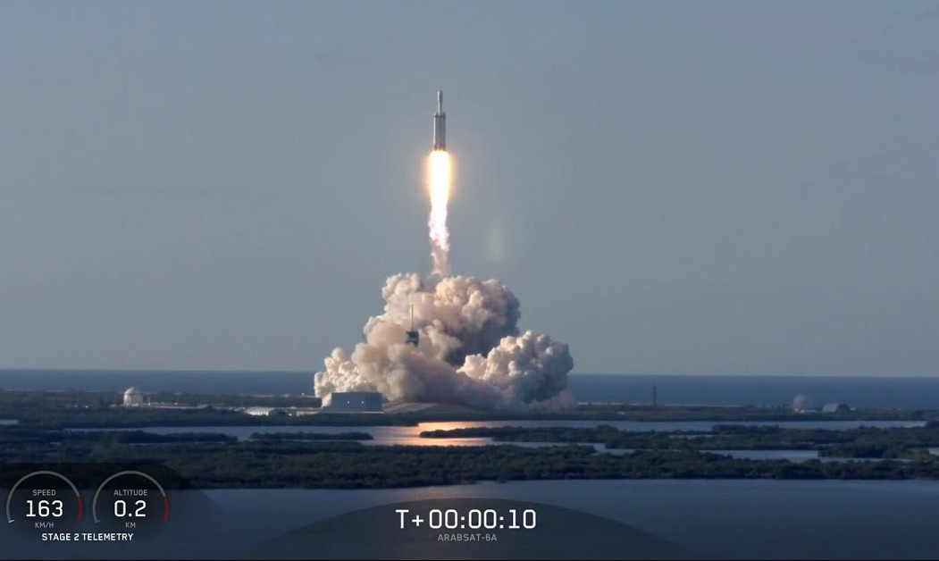 SpaceX Falcon Heavy Arabsat-6A