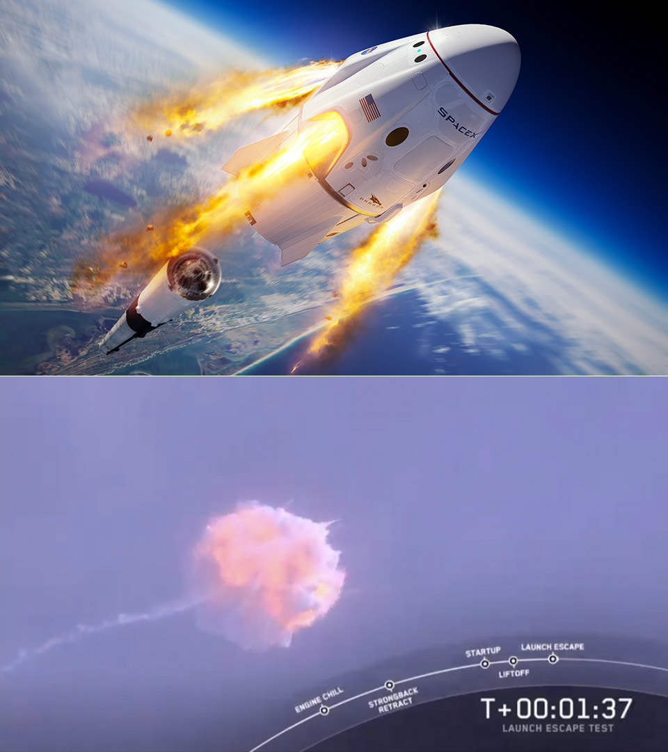 SpaceX NASA Pad Abort Test Falcon 9 Rocket