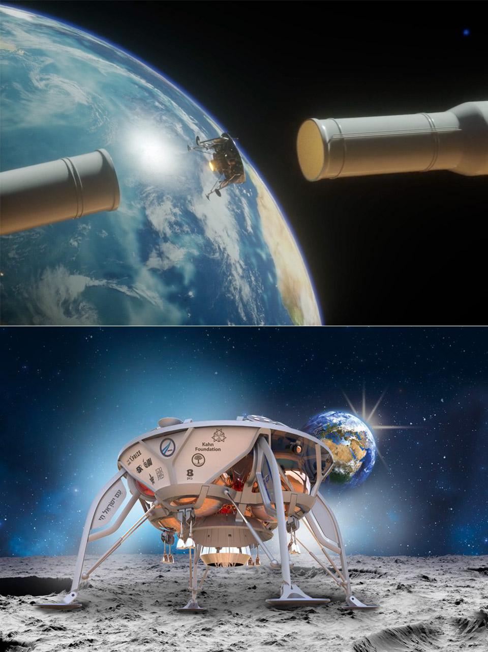 SpaceX SpaceIL Lunar Lander Moon