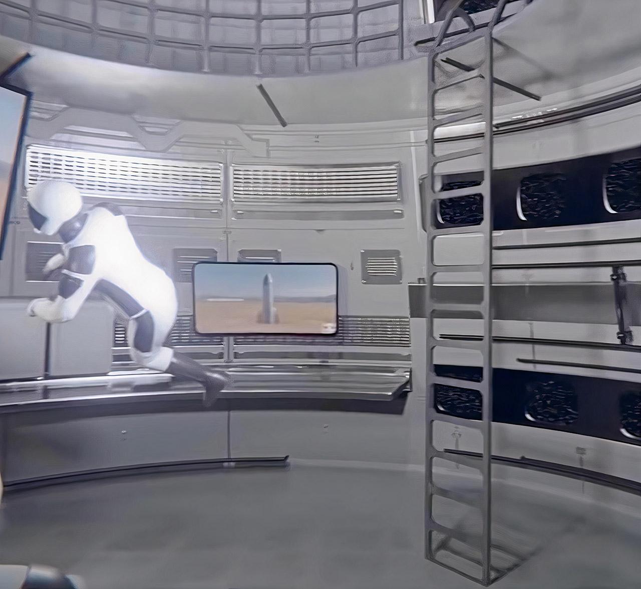 SpaceX Starship Interior