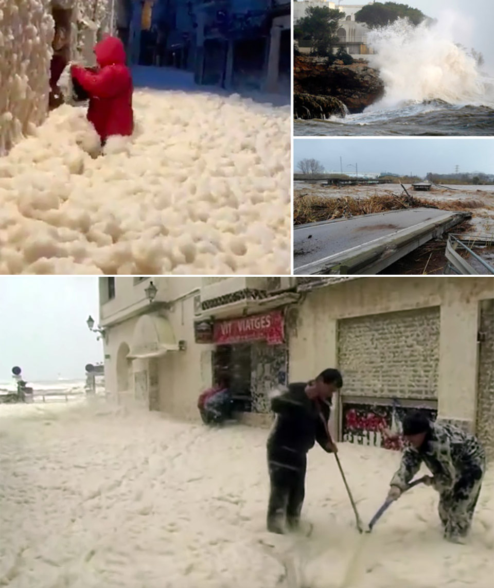 Spain Typhoon Gloria Sea Foam