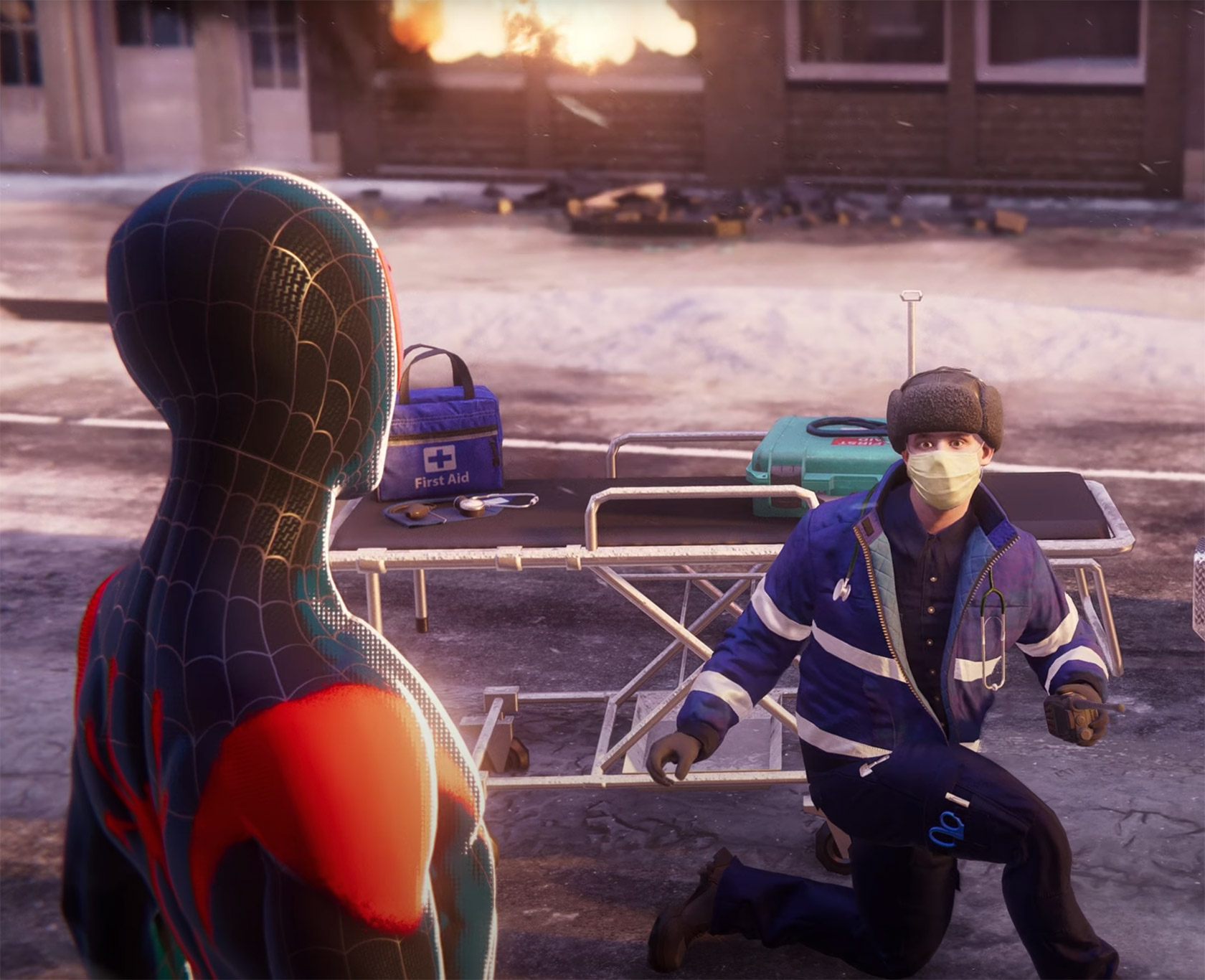 Spider-Man Miles Morales Into the Spider-Verse Suit