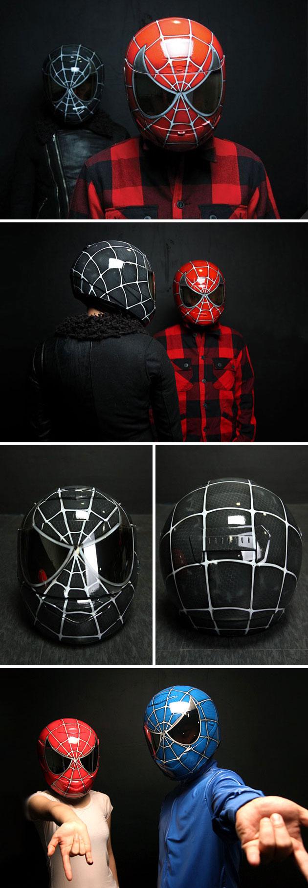 Spider-Man Motorcycle Helmets