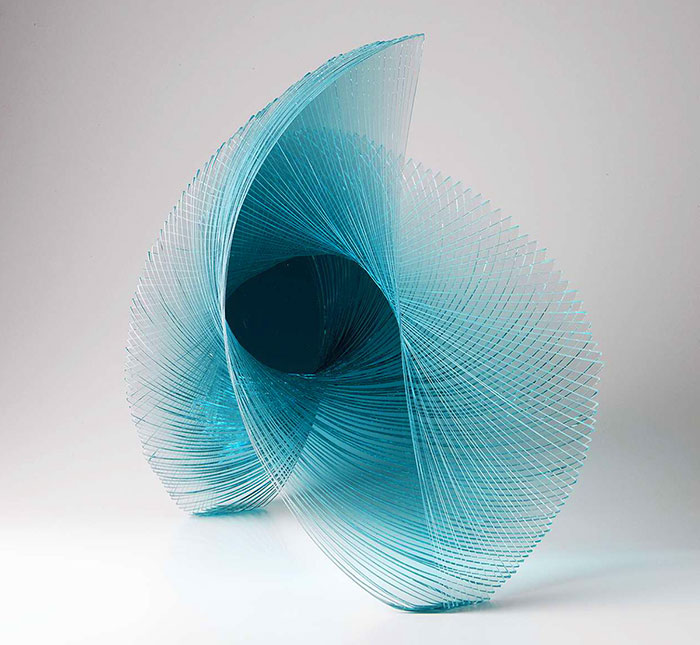 Spiraling Geometric Sculpture