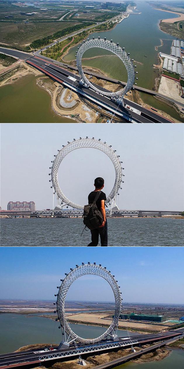 Spokeless Ferris Wheel