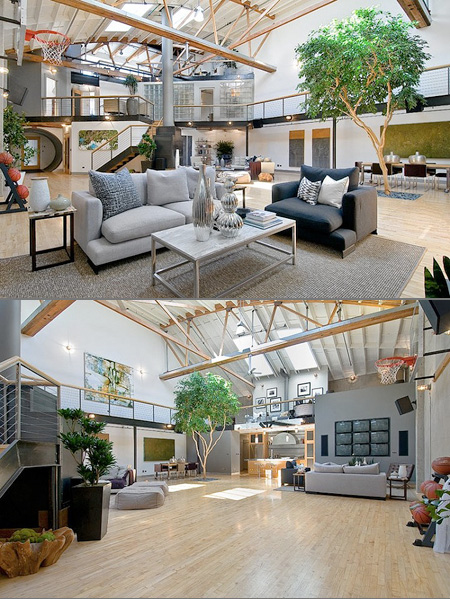 Sports House Has Basketball Court In Living Room Techeblog