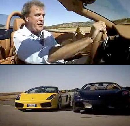 Top Gear Lamborghini Gallardo Spyder Vs Ferrari F430 Spider