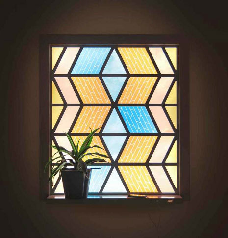 Stained Glass Solar Panel
