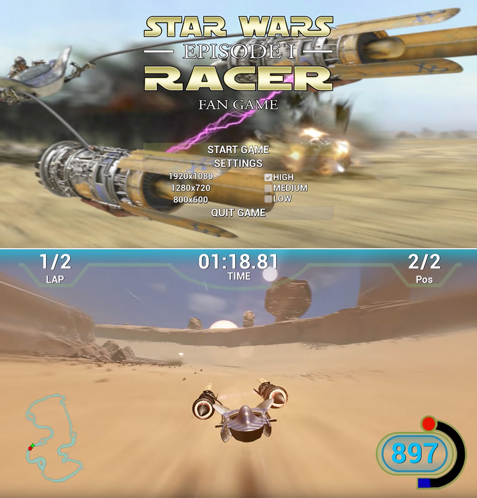 Star Wars Episode 1 Racer UE4