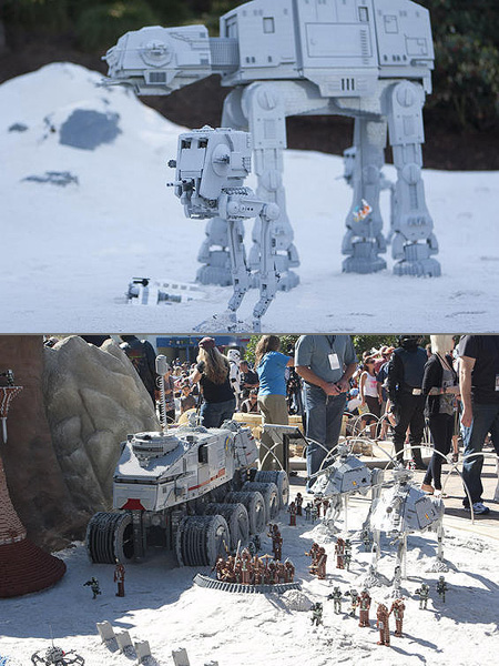 Star wars miniland opens at legoland california techeblog for Star wars museum california