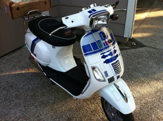 R2-D2 Vespa Scooter