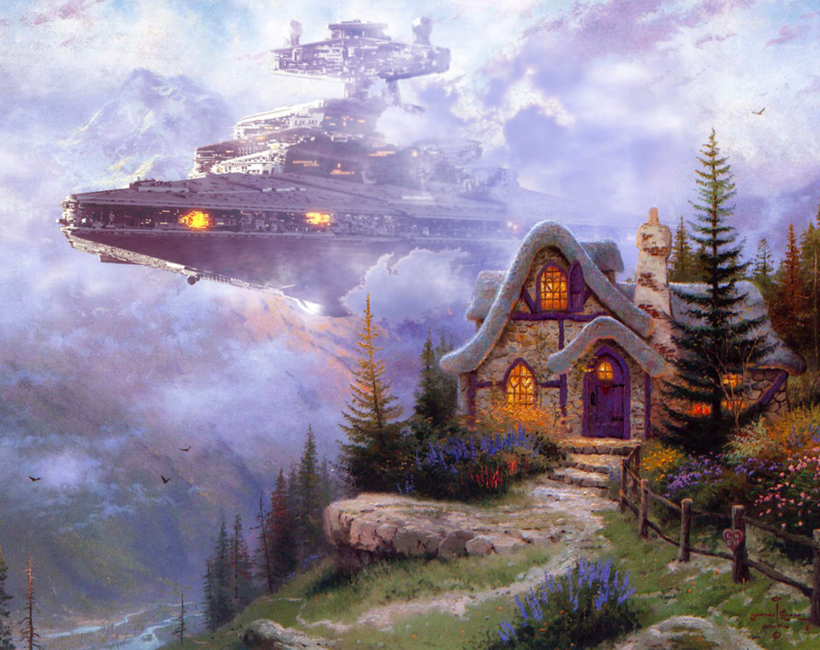 Star Wars Thomas Kinkade
