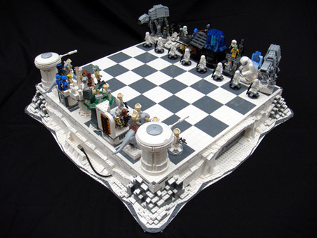 These ultra geeky LEGO Star Wars chess sets -- in both Empire Strikes Back