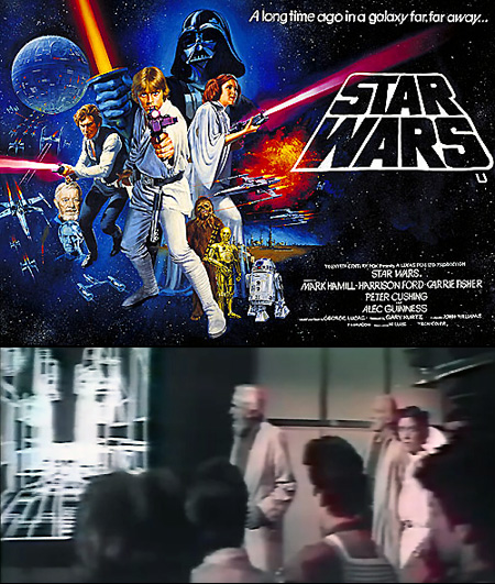 The computer graphics for the first Star Wars film was created by Larry Cuba