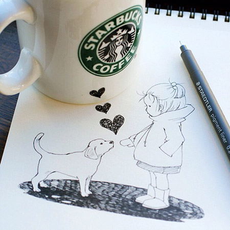 10 cool and creative 3d starbucks cup drawings techeblog