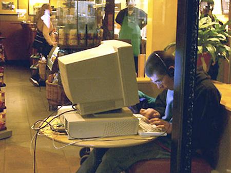 Funny Starbucks Computer Setups - TechEBlog