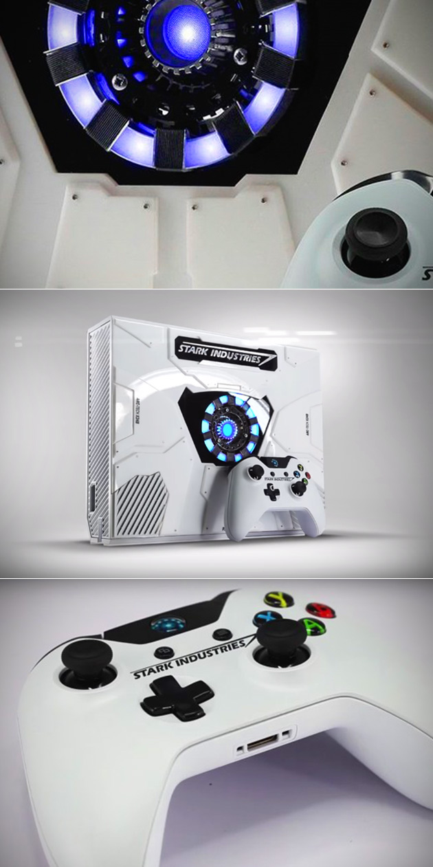 Custom Stark Industries Xbox One Has Light Up Arc Reactor Might